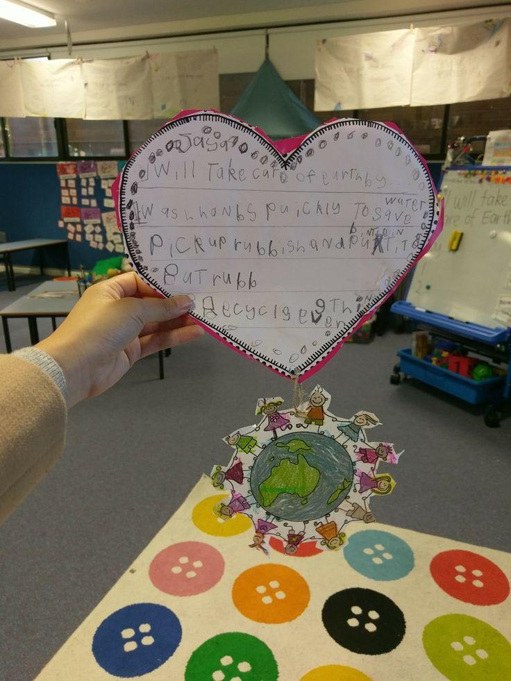Earth day writing/ craftivity