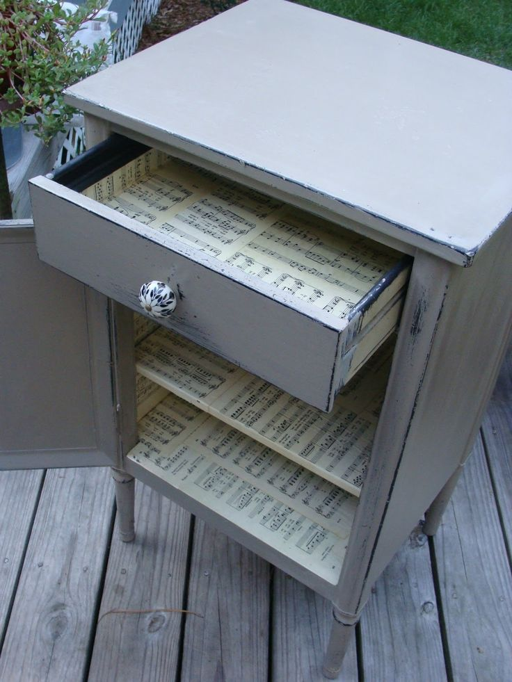 Red Tin Inn: metal mess to shabby Fab. Cabinet upcycle