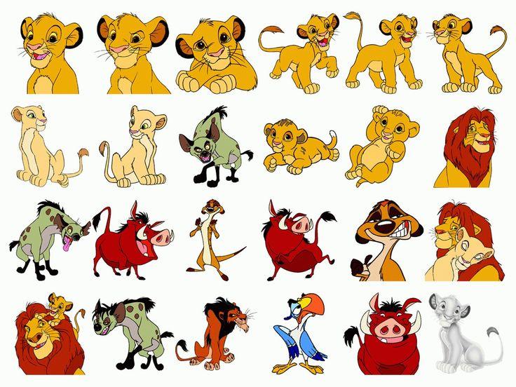 Картинки героев из мультика король лев