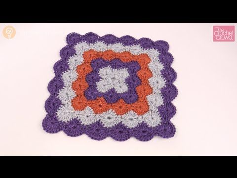 How to Crochet an Afghan: Catherine Wheel Stitch - YouTube