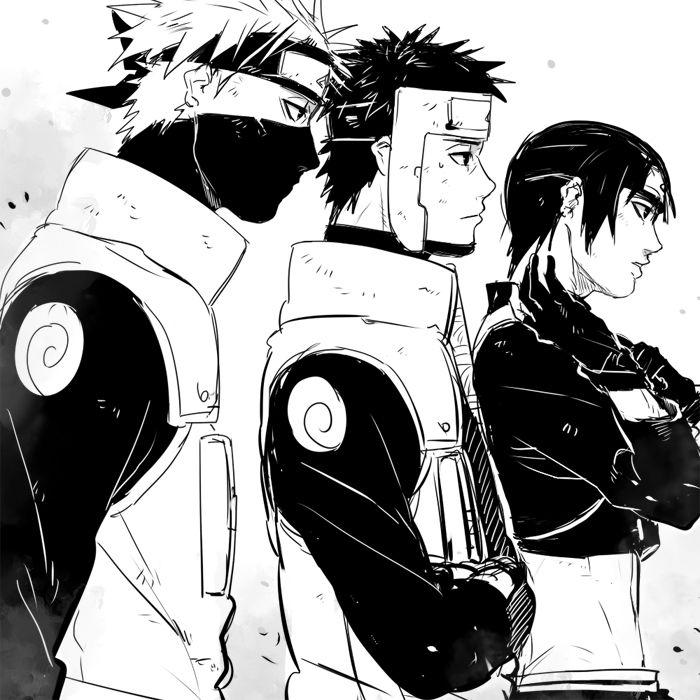 Kakashi, Yamato, & Sai