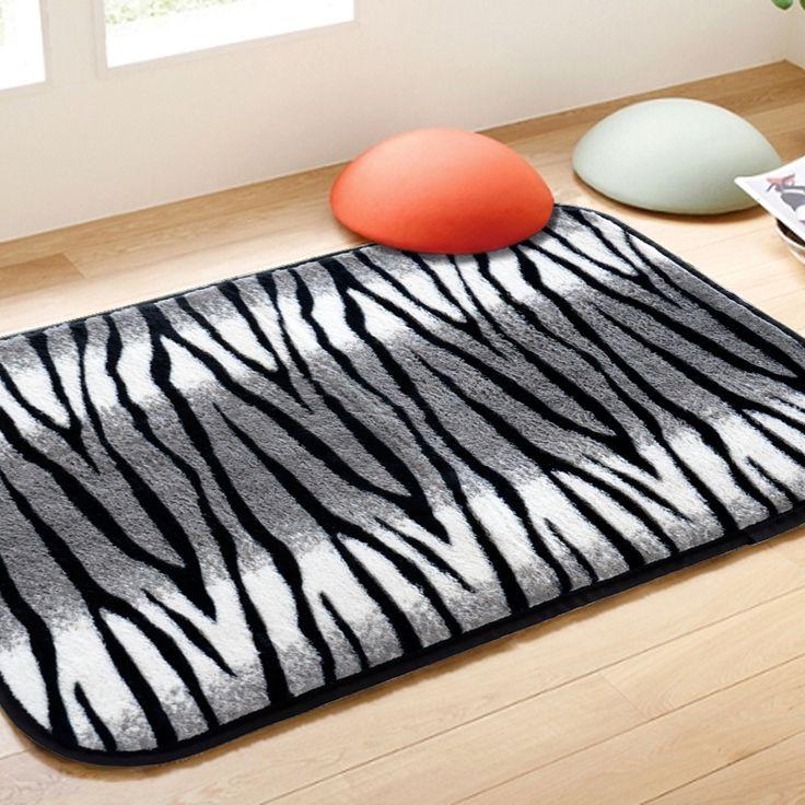 Zebra bathroom mats