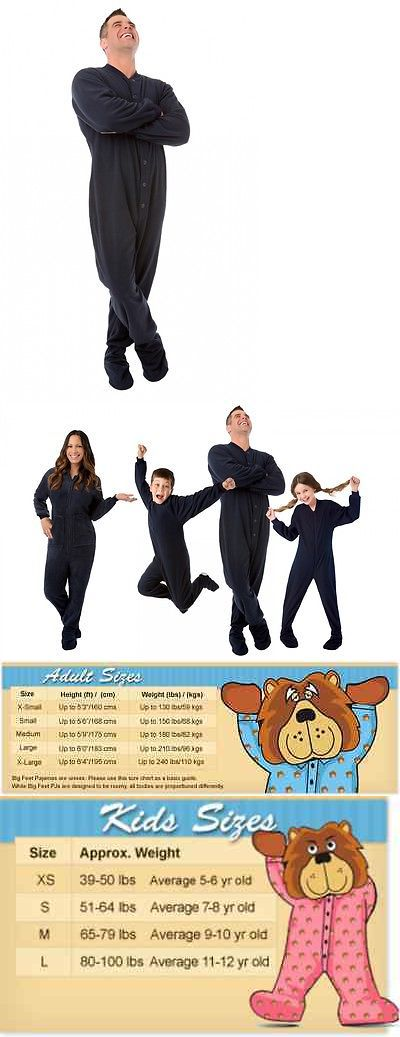 Sleepwear and Robes 166697: Navy Blue Fleece Adult Footed Pajamas Footie Drop Seat Mens Womens Pjs Soft -> BUY IT NOW ONLY: $36.27 on eBay!