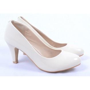 Pantofi de Dama Glossy Beige