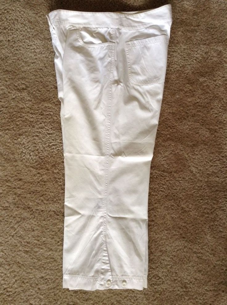 Eileen Fisher Womens Crop Capris White Size Medium. C in Clothing, Shoes & Accessories, Women's Clothing, Pants | eBay