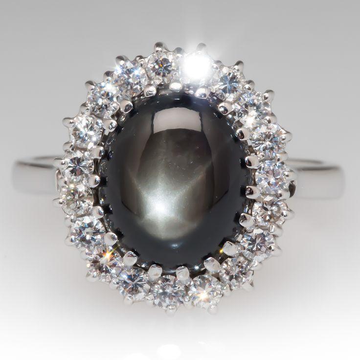 Vintage Black Star Sapphire Ring