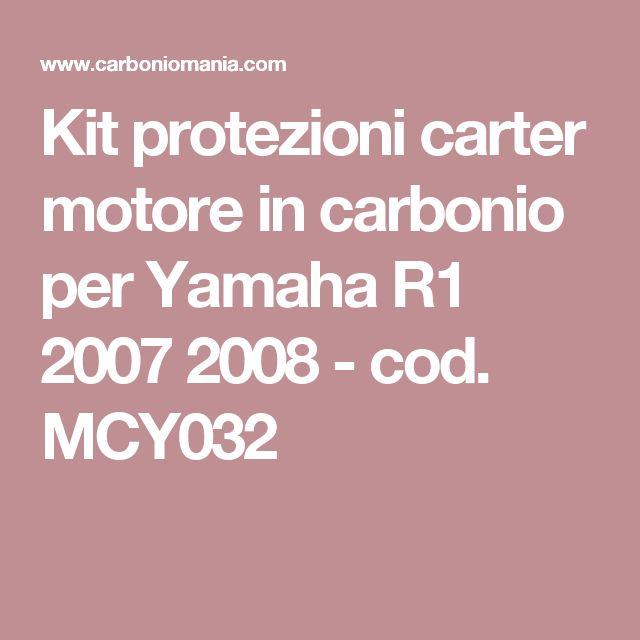 Kit protezioni carter motore in carbonio per Yamaha R1 2007 2008 - cod. MCY032
