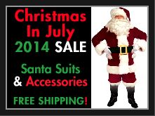 It's almost time for Christmas in July! Stock up on Santa Claus Costume Gear today for Special Discounts + FREE Shipping @ www.creativecostume.com. Only 15 Adult-sized Santa Suits left in stock! Get yours today before they're all sold out. Contact the owners of Creative Costume Company to inquire about their products for sale and/or make an official purchase --> costume@creativecostume.com. Sale ad link: http://snack.to/bzt8o58f.