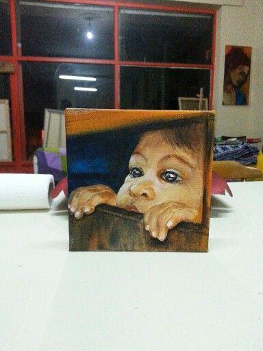 Painting children oilpainting art