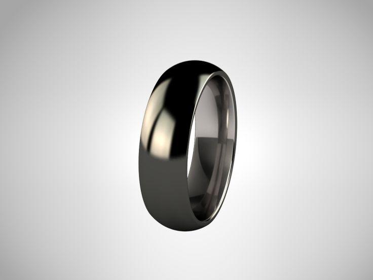 [obzect]: Siyah Elmas Kaplama Titanyum Yüzük