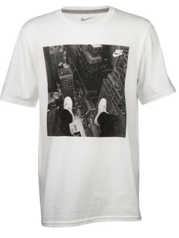 NIKE GRAPHIC T-SHIRT NYC EMPIRE STATE AIR FORCE 1 BOYS' GRADE SCHOOL S