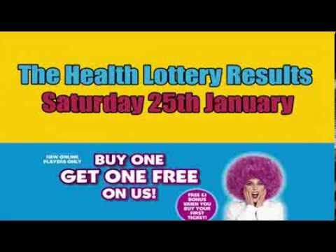 Tonight's Health Lottery results on #YouTube as hosted by Anne Diamon, good luck all players: www.youtube.com/watch?v=aHUbBohog64