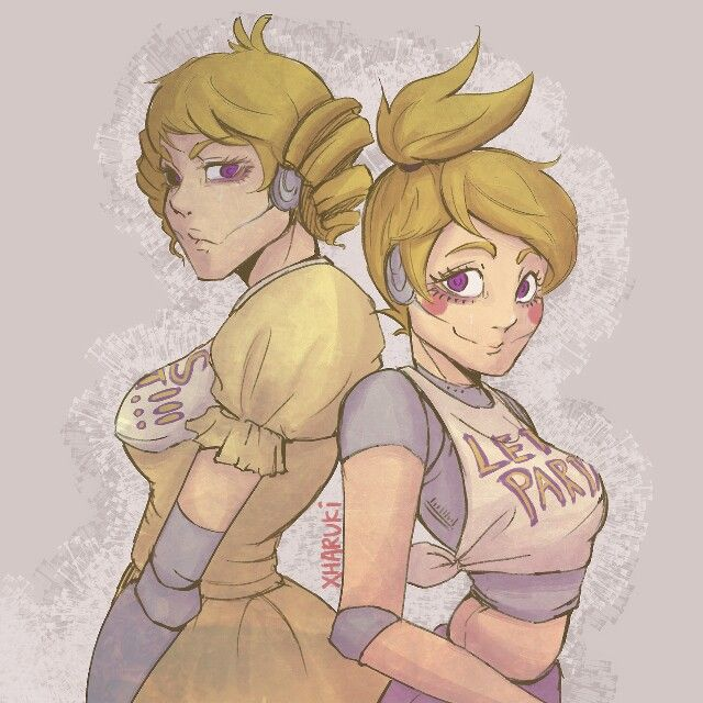 Human old and new Chica