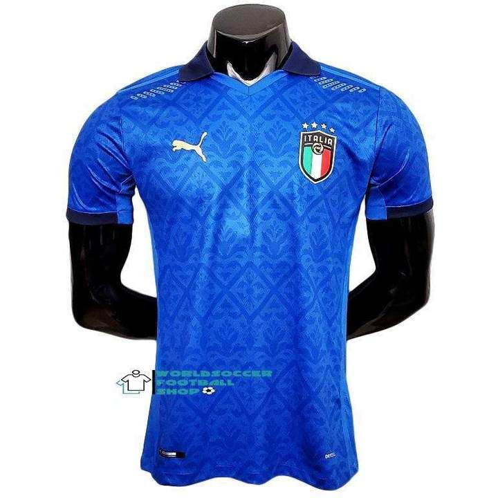 Italy National Football Team Home Azzurri Italia 2020 21 Player Versio Www Worldsoccerfootballshop Com En 2020