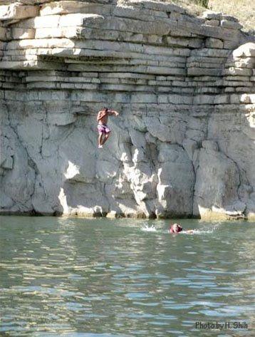 Cliff Jumping at Lake Pueblo, Colorado