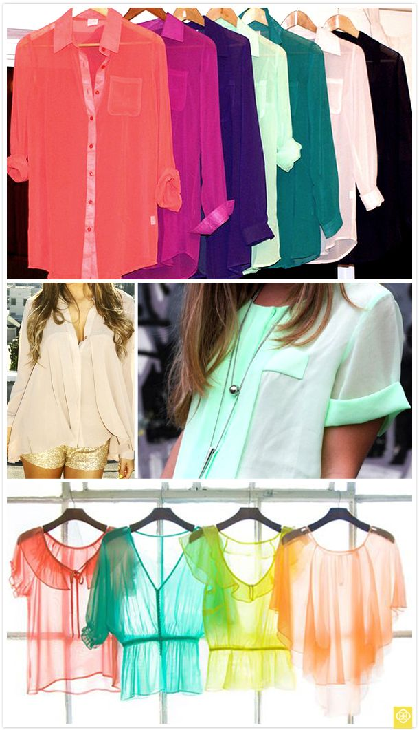 soo pretty!: Chiffon Blouses, Mint Green, Chiffon Tops, Dreams Closet, Sheer Tops, Sheer Colors, Buttons, Sheer Blouses, Chiffon Shirts Want