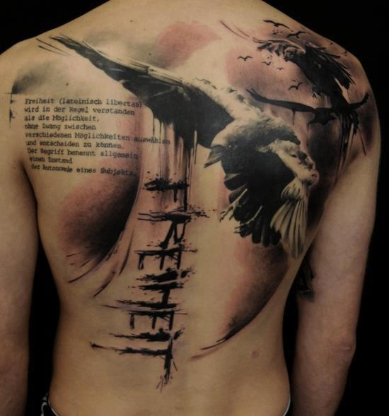 freheit german back tattoo freedom and liberty tattoo repins pinterest back tattoos. Black Bedroom Furniture Sets. Home Design Ideas
