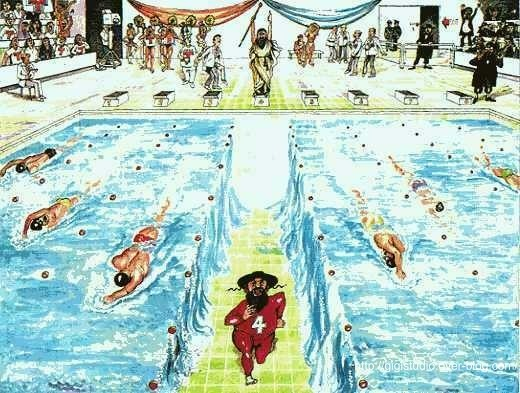 Humour mo se aux jeux olympiques la p che bain Olympic swimming pool water temperature