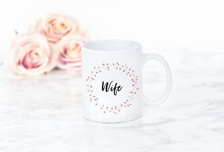 Wife Mug | Wedding Mug | Bride Coffee/tea Mug | Bride Latte Mug | Wedding gift mug by FrazzleFlorrie on Etsy https://www.etsy.com/uk/listing/507316208/wife-mug-wedding-mug-bride-coffeetea-mug