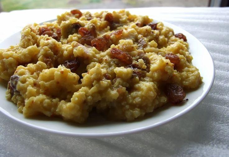 Kasza jaglana na słodko z curry