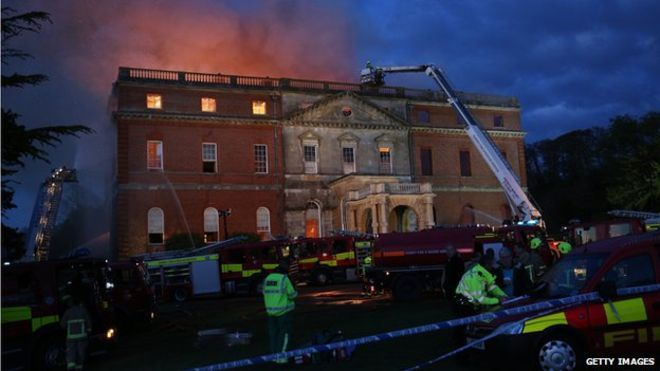 Fire crews tackle the blaze