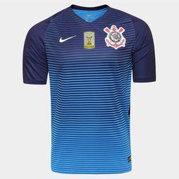 Camisa Nike Corinthians III 2016 S/Nº - PATCH CAMPEÃO BRASILEIRO - Azul