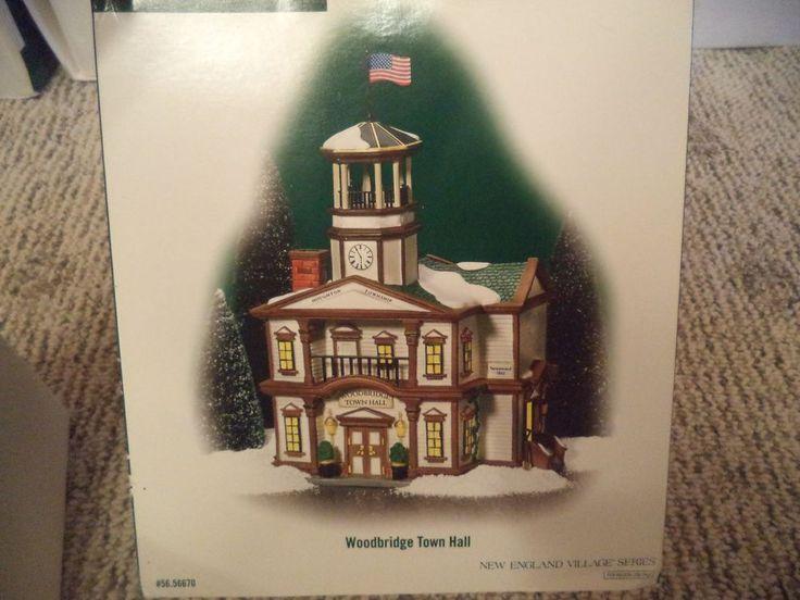 Dept 56 New England Village Woodbridge Town Hall 56670 In Original Box