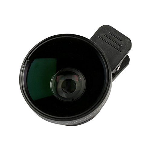 #HiFitech iphone Clip on Camera Lens Kit 0.45X Super Wide Angle Lens Macro Lens for iPhone 7/6/5/4 Android/Samsung Mobile Smartphone