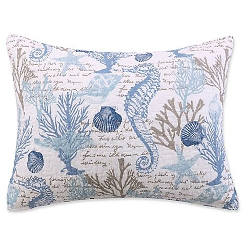 Sag Harbor Standard Pillow Sham In Blue Bedroom In 2019
