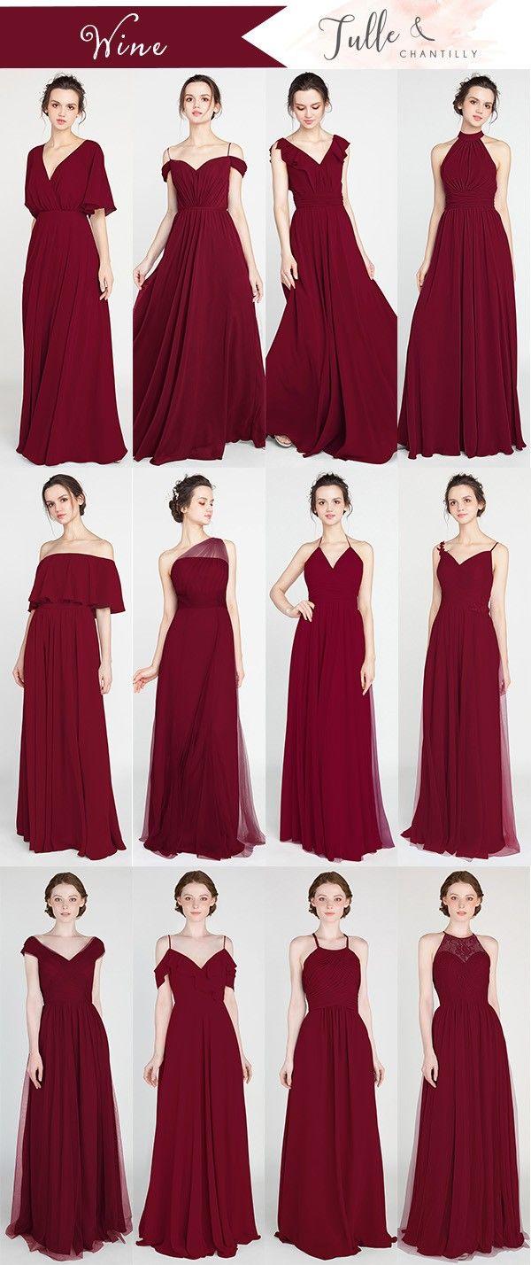 396cf5dbe03d wine bridesmaid dresses for fall 2018 #wedding #weddinginspiration # bridesmaids #bridesmaiddress #bridalparty #maidofhonor #weddingideas  #weddingcolors