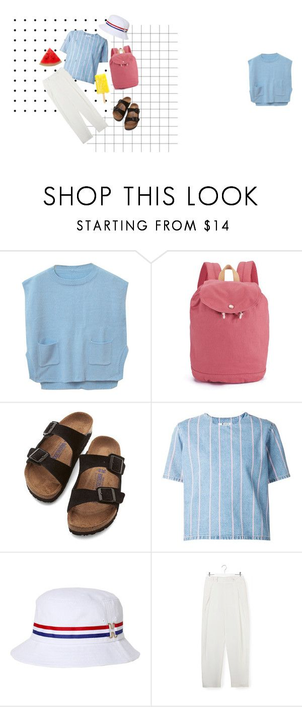 breeze~ by cici-munada on Polyvore featuring Chicnova Fashion, T By Alexander Wang, 3.1 Phillip Lim, Birkenstock, Herschel Supply Co. and HUF
