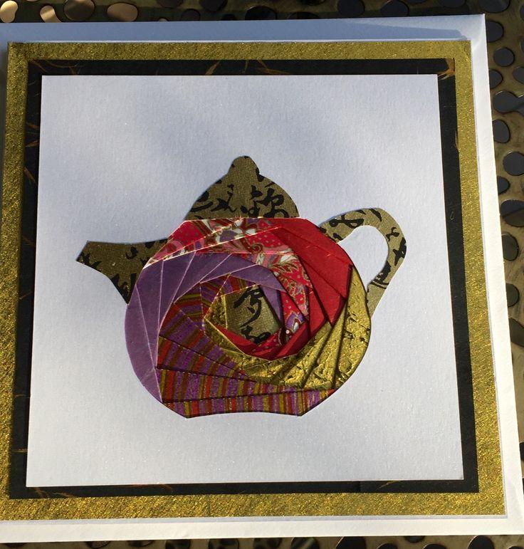 Iris folding card made today at LePapier