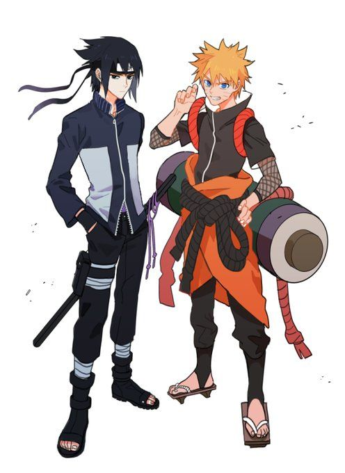 If naruto and sasuke switched personalities  this would be their new costumes
