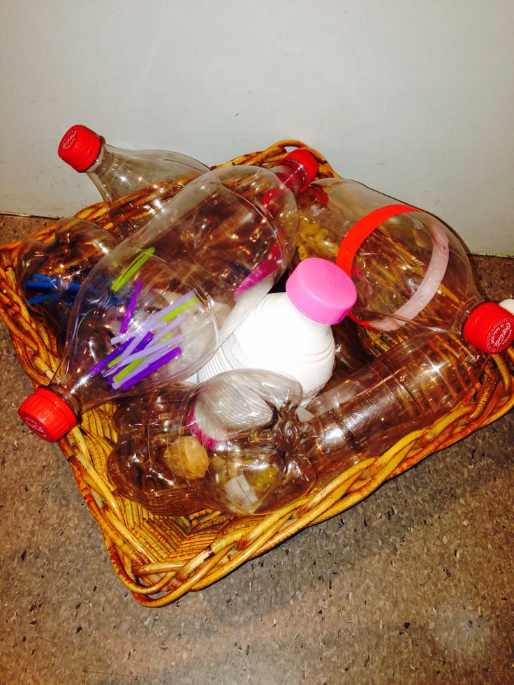 use as music bottles ? different sounds eg pompoms, water,straws,matchsticks etc