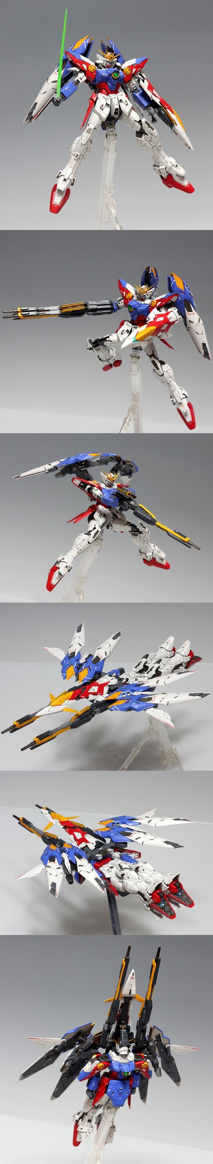 """MG 1/100 Wing Gundam Proto Zero [High Detail]: Remodeling Work by Team_Sky """"Karna"""". Full photoreview [WIP too] Many Wallpaper Size Images   GUNJAP"""
