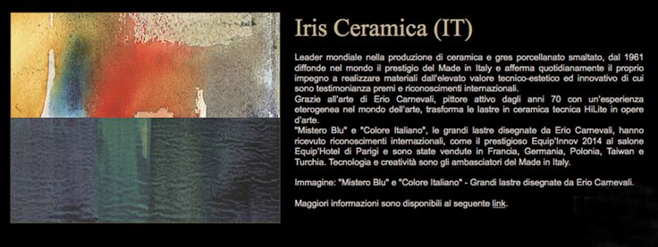 HILITE-Colore Italianao si Mistero Blu - picturi pe placi ceramice de 300×150 cm realizate de IRIS Ceramica in colaborare cu un artist italian celebru-Erio Carnevali.  Contact: office@lastreceramice.ro