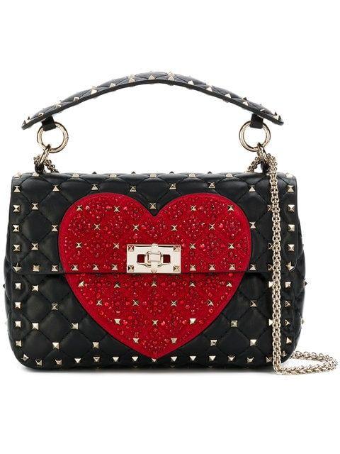 b39b67538a27 Valentino Valentino Garavani Heart Rockstud Spike Crossbody Bag ...
