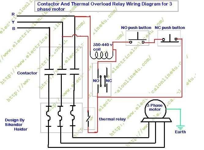 How To Wire Contactor And Overload Relay Contactor Wiring Diagram Electrical Online 4u Electrical Circuit Diagram Diagram Electrical Wiring Diagram