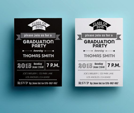 Graduation Party Invitation Template Retro By Designedbyanna
