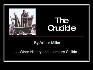 Identify three reasons why Arthur Miller wrote The Crucible?
