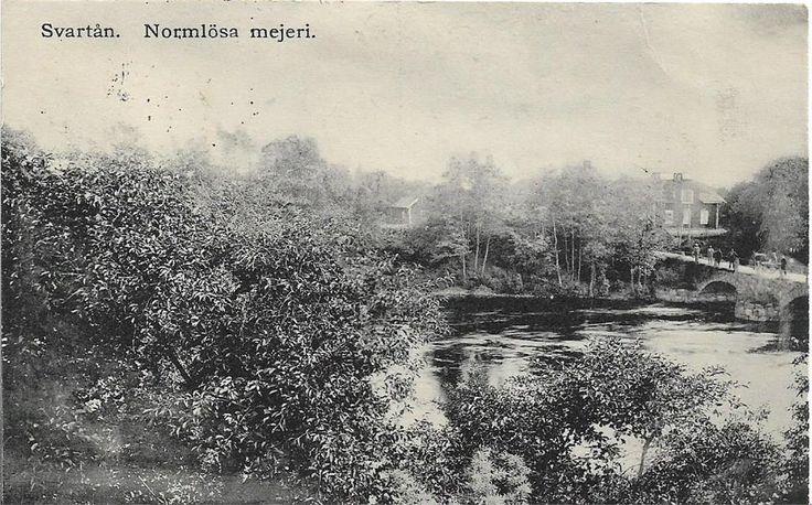Bron över Svartån i Normlösa. Östergötland.