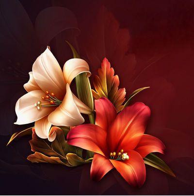"Barnali Bagchi ~ ""Fall Lilies."""