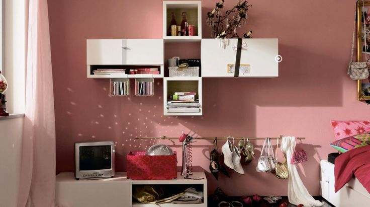 kids bedroom teens bedroom awesome teen bedroom with tv on white cabinet white book shelves on pink wall and shoes hang on golden stick awesome tween bedroom ideas for girls 1166x652