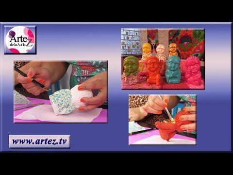 Decoupage para decorar figuras de yeso o bizcocho cerámico