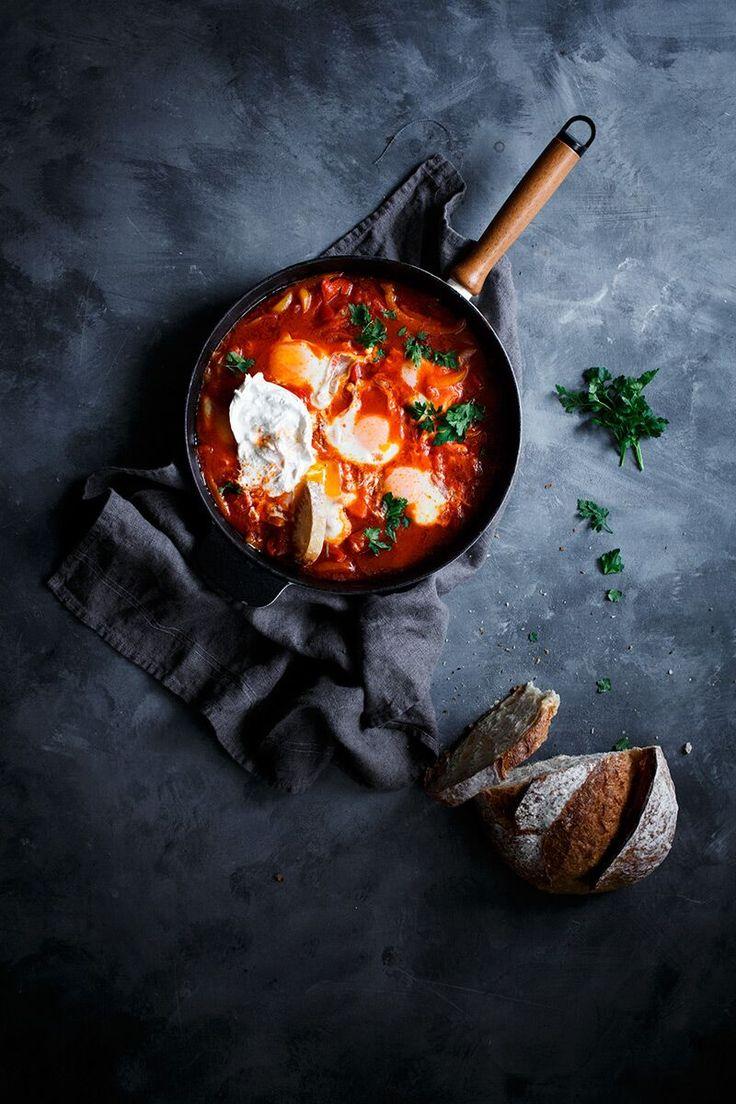 Sakshuka- Receta tunecina de huevos escalfados con salsa de tomate