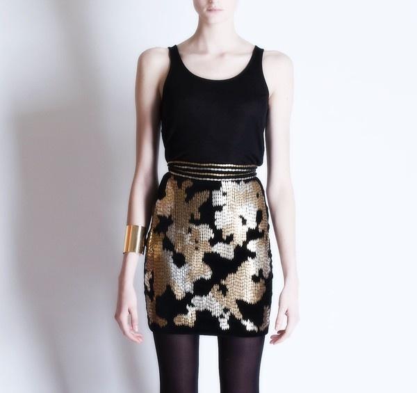 Michel Klein Sequined skirt #luxury #modewalk
