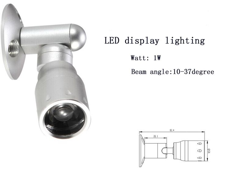 3315 1W display cabinet lighting with focusable from LEDingthelife – LEDingTheLife UK