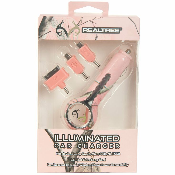 AES Optics Realtree AP Pink Camo Illuminated Car Charger-692475 - Gander Mountain