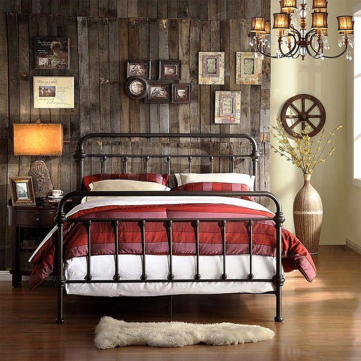 victorian bed frame antique dark bronze iron metal headboard u0026 footboard king sz