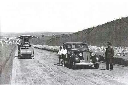 1935 - Avenida Rebouças em construção, na altura da rua da Consolação.